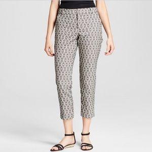 3/$30 - NWT Merona Jacquard Ankle Trousers